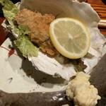 葱ぼうず - 岩牡蠣のフライ