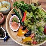 ビュッフェレストランAOW - ししゃも南蛮・蒟蒻と筍煮・ひじき煮・サラダたち