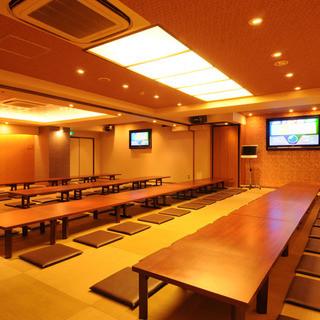 テーブル席の半個室やお座敷大宴会場をご用意しております!