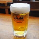 元車庫前丸宮中華そば - 生ビール