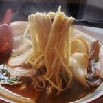 元車庫前丸宮中華そば - チャーシューメン(麺)