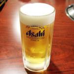 焼肉 静龍苑 - 生ビール(550円)