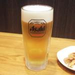 麺工房 武 - 生ビール(450円)