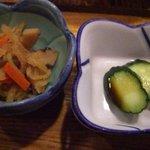 キッチン スガ - 小鉢(切り干し大根)と胡瓜の糠漬け