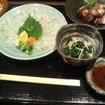 15380268 - 真鯛の薄造り定食