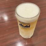 上海料理 寒舎 - 生ビール(中ジョッキ)