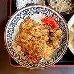 153809989 - 焼鳥丼定食(ミニ豚汁付) ¥1,220 の焼鳥丼