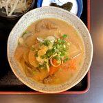 153809990 - 焼鳥丼定食(ミニ豚汁付) ¥1,220 のミニ豚汁