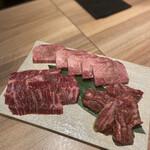 153816412 - (塩)タンと赤身肉
