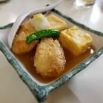 三枡 - 里芋の揚げ出し豆腐