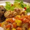 フード&バー カーニャ - 料理写真:キューバのプレート料理 マンゴーサルサチキン