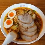 彩華ラーメン - サイカラーメン小+味玉+バラチャシュ♪