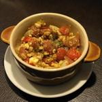 洋食堂 - 2012.10 スペイン小麦とトマトのジェノベーゼ