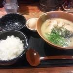 15385266 - お昼の定食…日替りラーメン(木曜日はチャーシュー)+卵ごはんのBセット