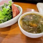 和伊わい亭 - サラダとスープ