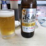 はまべ - ノンアルコールビール(食べログメニューは250円だが、550円/本支払った)