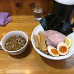 """麺道 ゲンテン - 料理写真:""""全部のせつけ麺""""1,350円♪"""