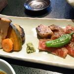 味の与平 - 飛騨牛陶板焼き