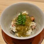 153876806 - 毛蟹の蒸し寿司