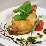 トラットリア メリメロ - 鶏もも肉のロースト