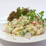 トラットリア メリメロ - アボカドと海老のサラダ