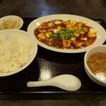 三珍 富士力食堂 - (2021/6月)四川麻婆豆腐+定食セット
