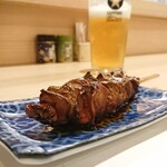 季節料理と地酒 裕 - 仕入れ肉の旨さだけで十分と思ってもいたが…やっぱり本物の備長炭は別格に旨さを増してくれる。レア目なレバーが絶対的と思っていたが中まで火の通ったものも旨い…遠赤外線効果実感。