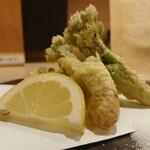 季節料理と地酒 裕 - たらの芽天ぷら