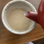 あんばい - 蕎麦湯はドロドロとサラサラのちょうど良いあんばい♡