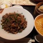 Chikuen - 醤油炒飯セット850円