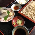 蕎傳 - 料理写真:さば棒ずしセット 1180円