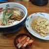 塩元帥 - 料理写真:天然塩ラーメン+半チャンセット