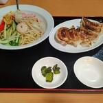 153933271 - 【2021.7.1(木)】冷麺セット(中華冷麺+焼き餃子)1,078円