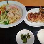 153933272 - 【2021.7.1(木)】冷麺セット(中華冷麺+焼き餃子)1,078円
