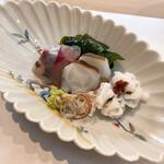 寿司処ちはる - 料理写真:関アジ、地だこ、鱧