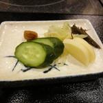 活魚・鍋料理 風車 - 8-4. 香の物