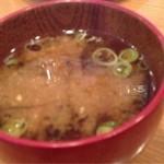 小鉢や - 動物性出汁のない味噌汁
