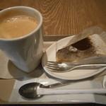 カフェ ソラーレ - マロンのミルクレープ&ブレンドコーヒー