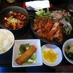 都来 - ミックス定食+ミニ麻婆豆腐