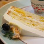 まとい亭 - マンゴーのショートケーキ
