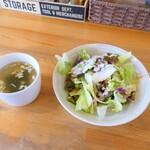 石窯PIZZAバル 四季 - 料理写真:サラダとスープ