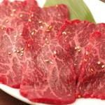 焼肉グレート - 和牛赤身(ロース)780円(税別)