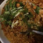カレイヤー - ニラと水菜が特徴的なカレーです(*´艸`)