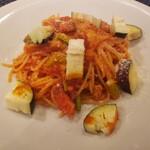 154026421 - スパゲッティー ベーコンと新玉ねぎのトマトソース