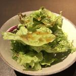 キッチン直樹 - 宮崎和牛サーロインステーキ 180g ~デミグラスレモンバター~ に付くサラダ