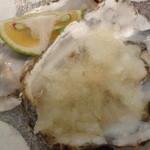 炭焼き定食や 台所や - 殻つき生牡蠣(1)