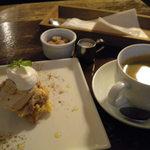 15406063 - CAKE SET(アップルパイ風レアチーズ)(ホットコーヒー)