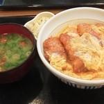 15406988 - カツ丼(並)550円+季節のみそ汁100円+漬物50円