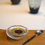 レストラン オオツ - 2021.7 所沢産緑健農法トウモロコシ「おおもの」のスープ 豪州産黒トリュフ
