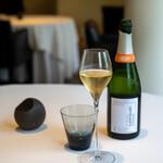 レストラン オオツ - 2021.7 ペアリング1杯目のランスロ(シャンパン)